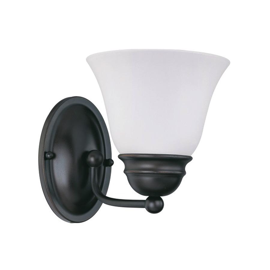 1-Light Mahogany Bronze Vanity/Wall Fixture