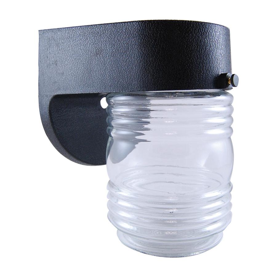 Black Polycarbonate Peanut Jar Fixture