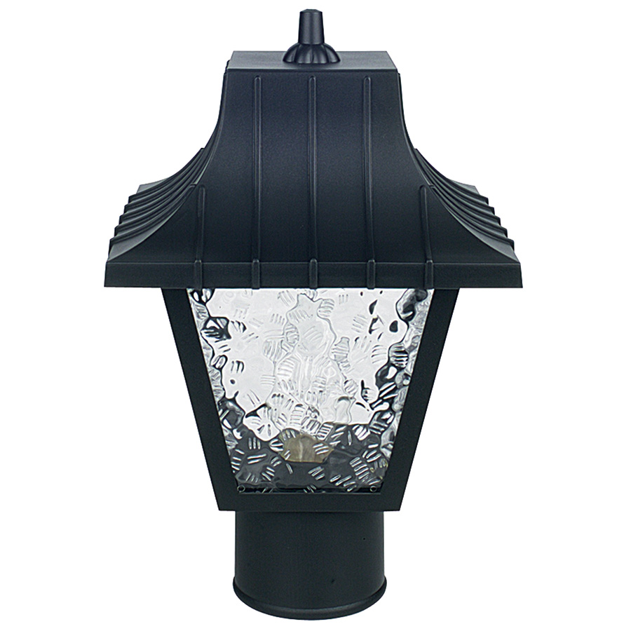 Black Incandescent Post Top Fixture