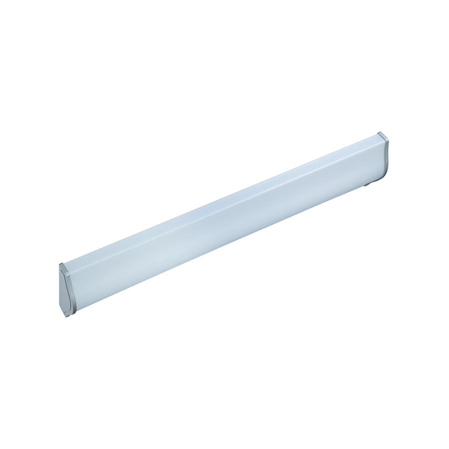 2-Bulb Designer Fluorescent Wrap Fixture Satin Nickel