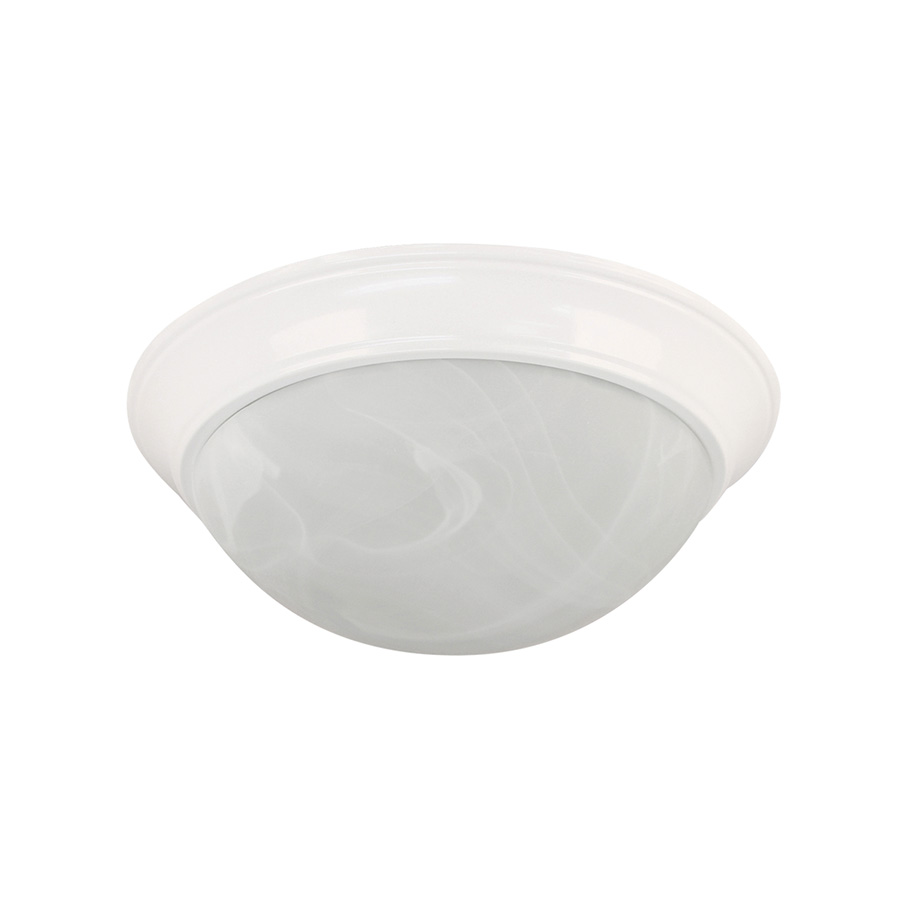 "14"" LED Dome Ceiling Fixture White"