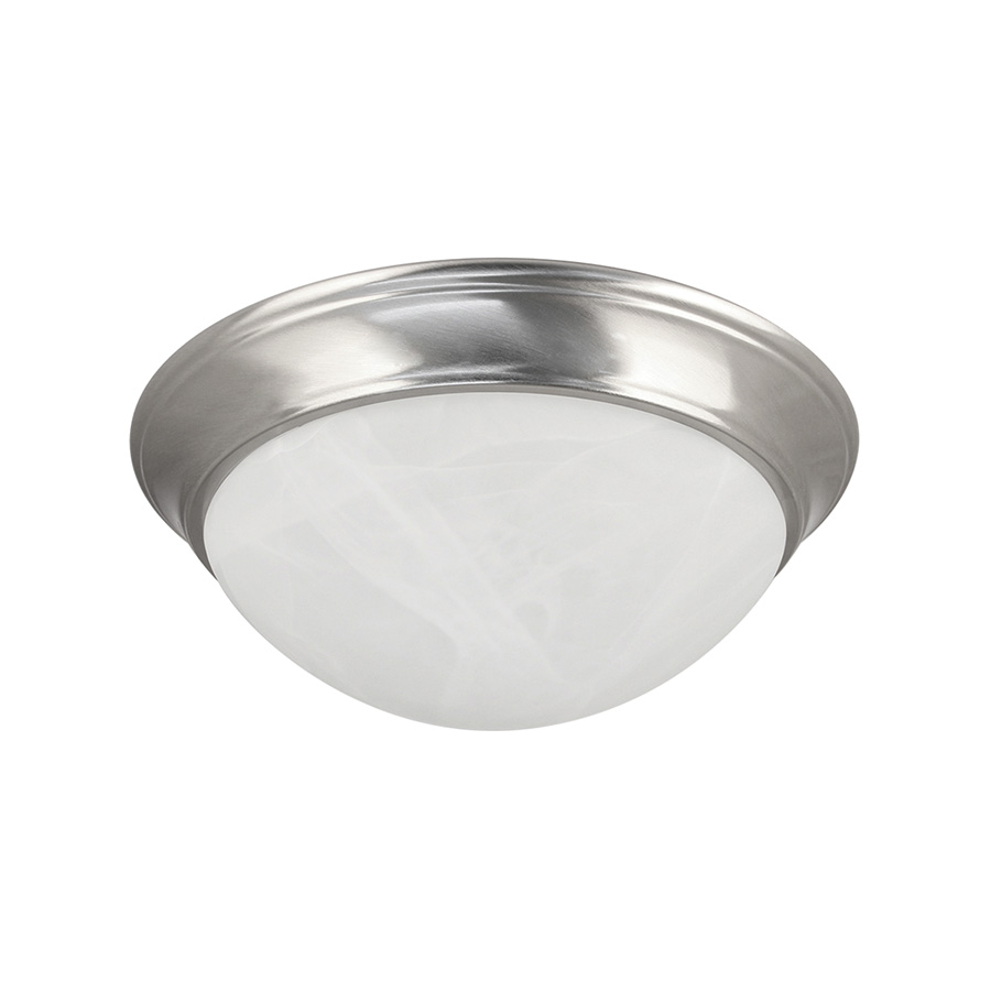 """13"""" LED Dome Ceiling Fixture Satin Nickel"""