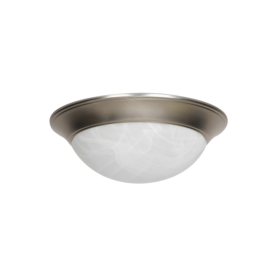 "14"" LED Dome Ceiling Fixture Satin Nickel"