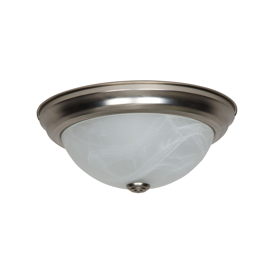 """11"""" LED Dome Ceiling Fixture Satin Nickel"""
