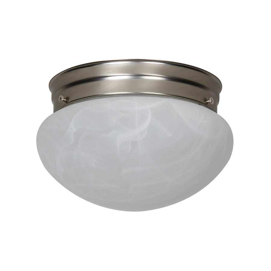 """6"""" LED Mushroom Ceiling Fixture Alabaster Globe"""