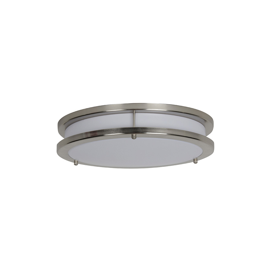 "10"" LED Round Ceiling Fixture Bright Satin Nickel"