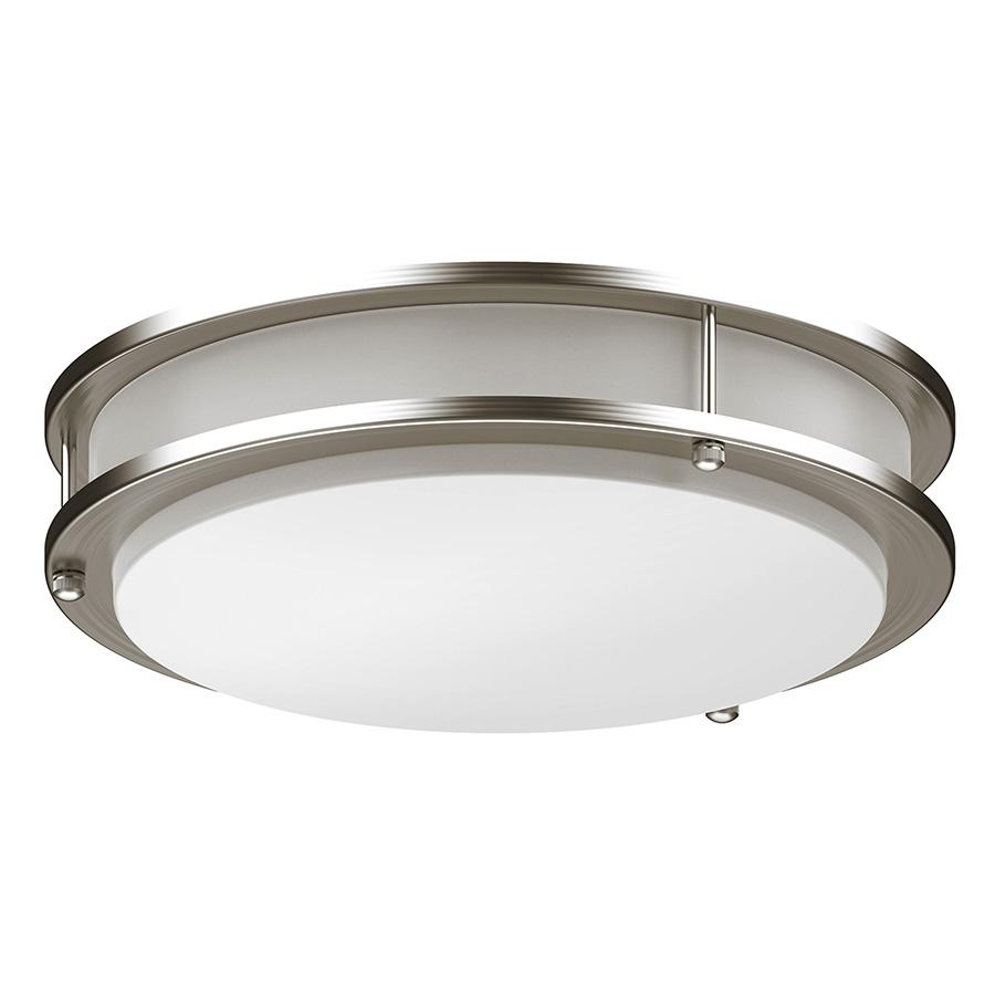 "16"" LED Round Ceiling Fixture Bright Satin Nickel"
