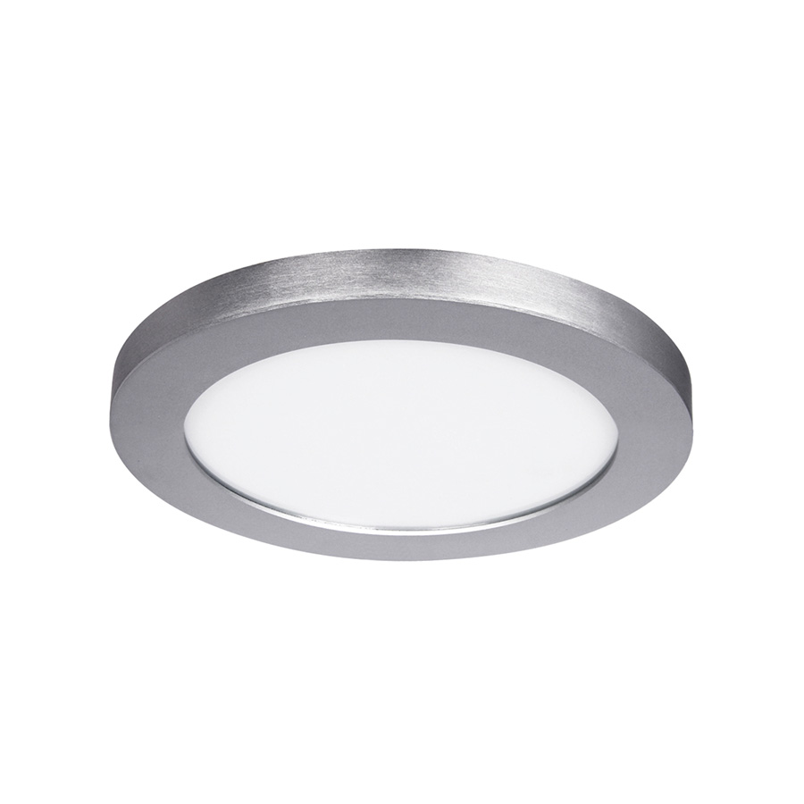 "11"" LED Round Flat-Panel Fixture Satin Nickel"