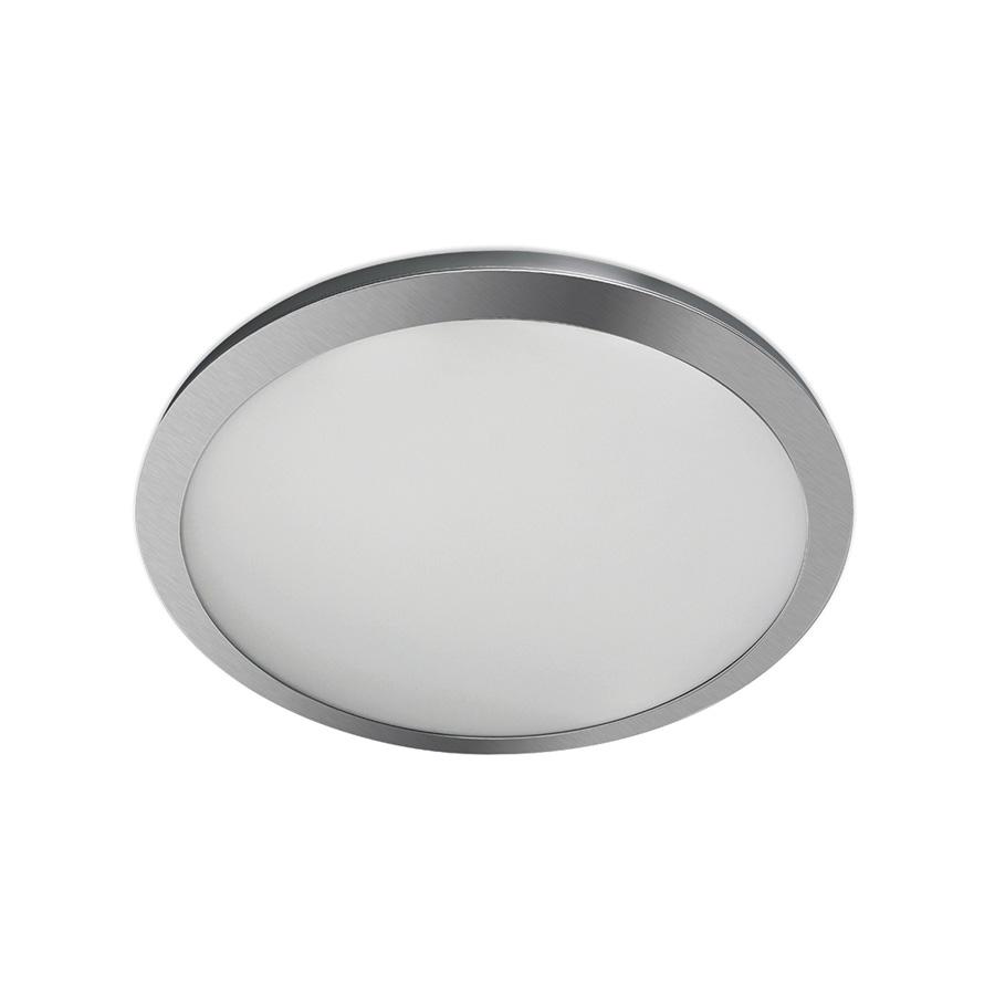 "13"" LED Round Flat-Panel Fixture Satin Nickel"