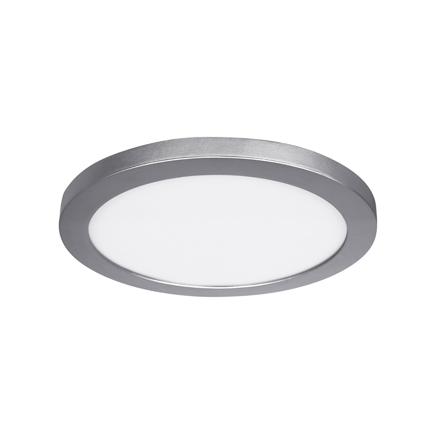 "15"" LED Round Flat-Panel Fixture Satin Nickel"
