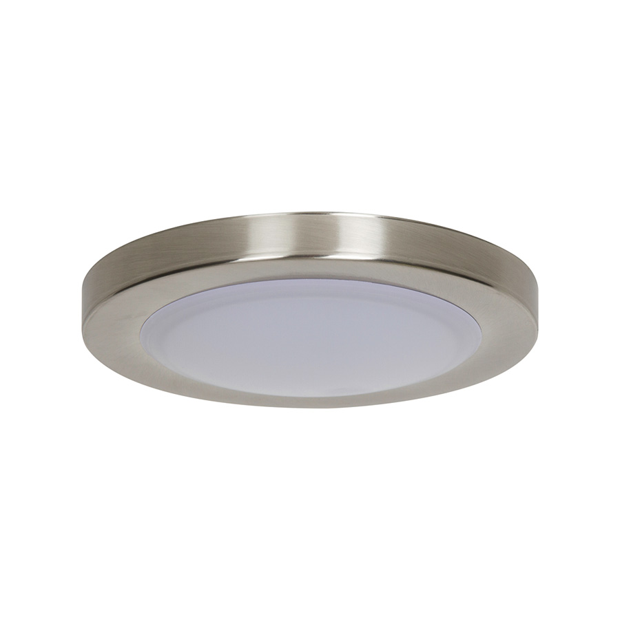 "7-1/2"" LED Ceiling Fixture Bright Satin Nickel"