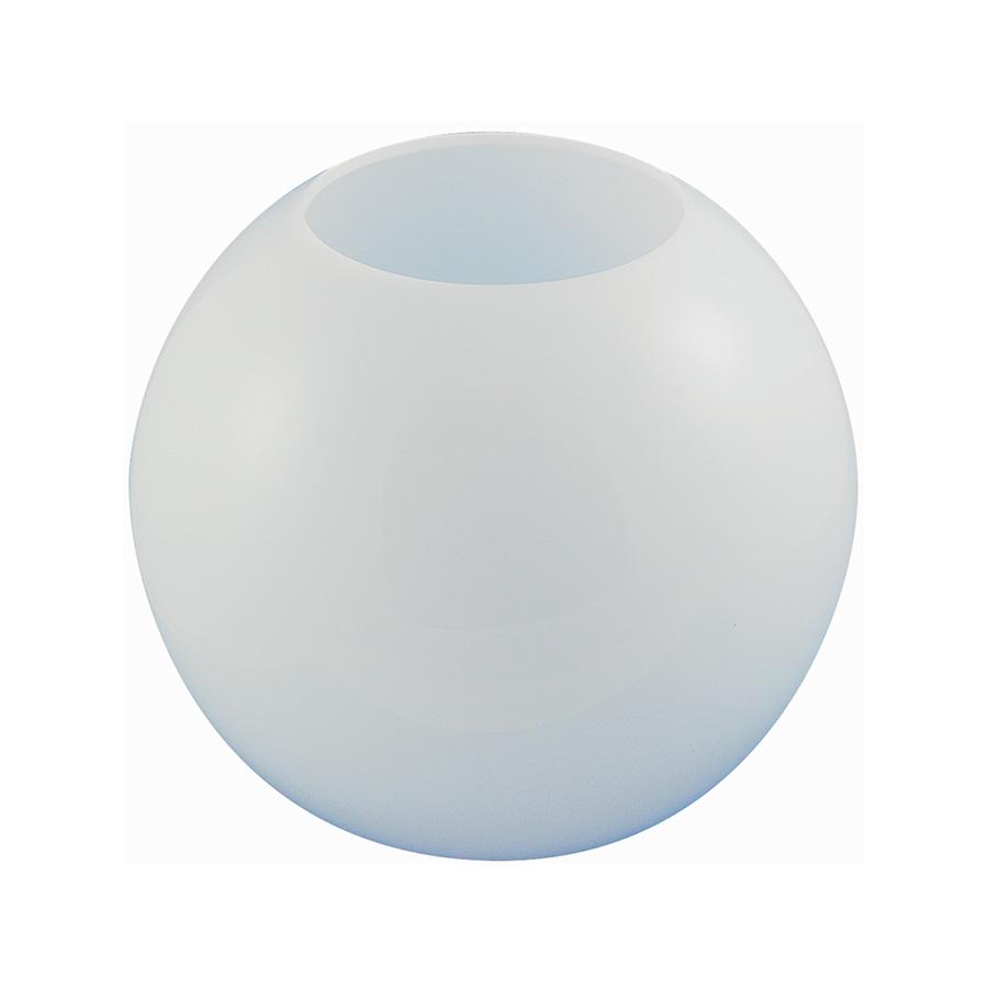 """12"""" White Flush Mount Acrylic Globe"""