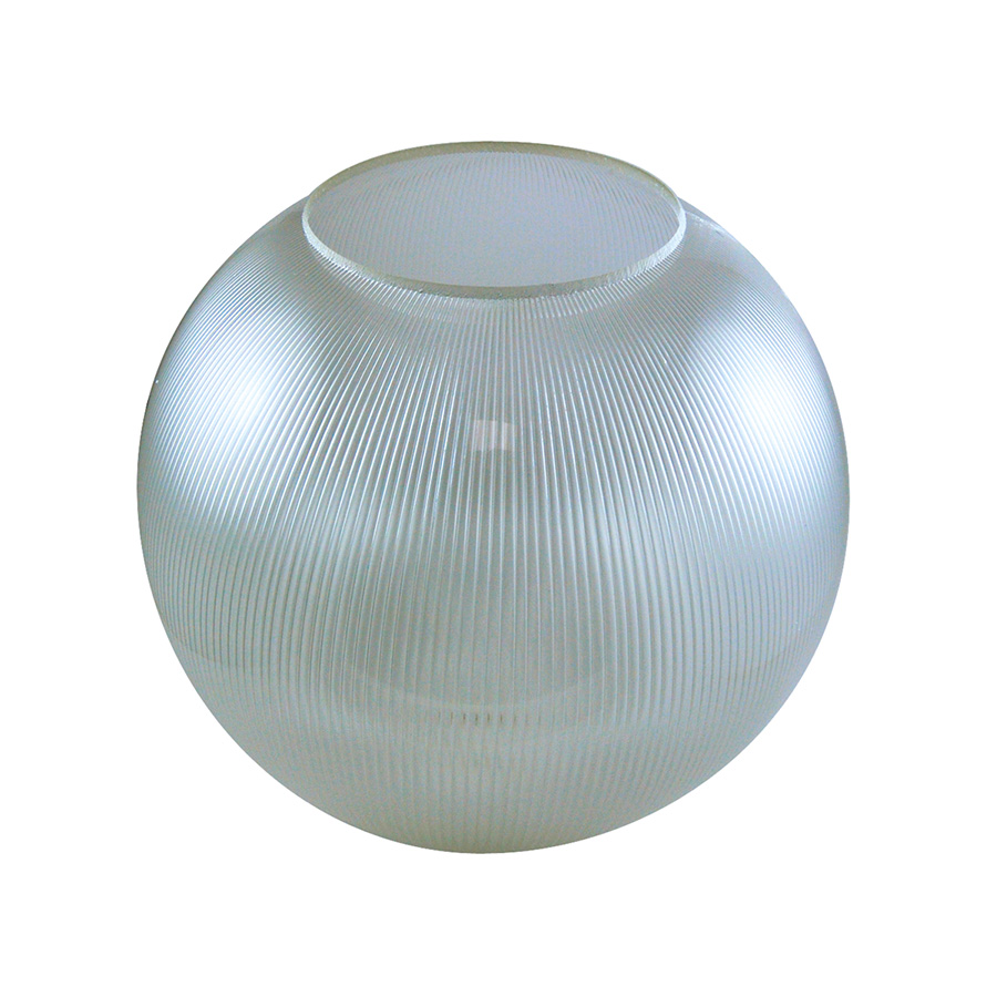 "12"" Clear Prismatic Flush Mount Acrylic Globe"