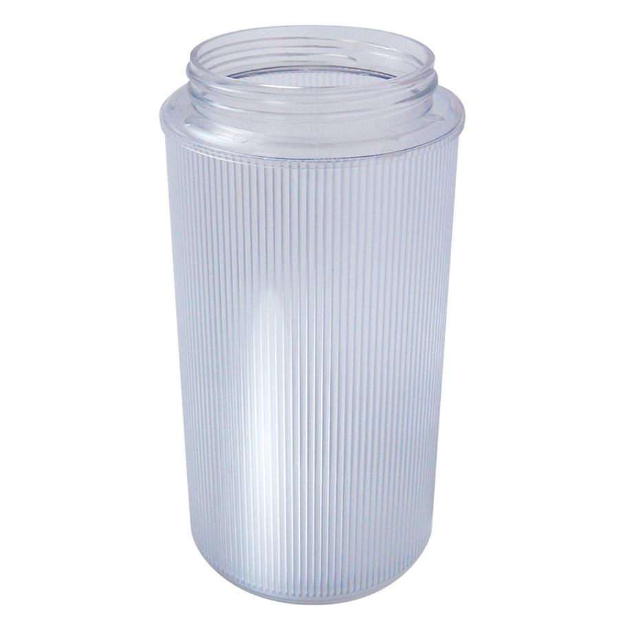 Acrylic Ribbed Threaded Jar