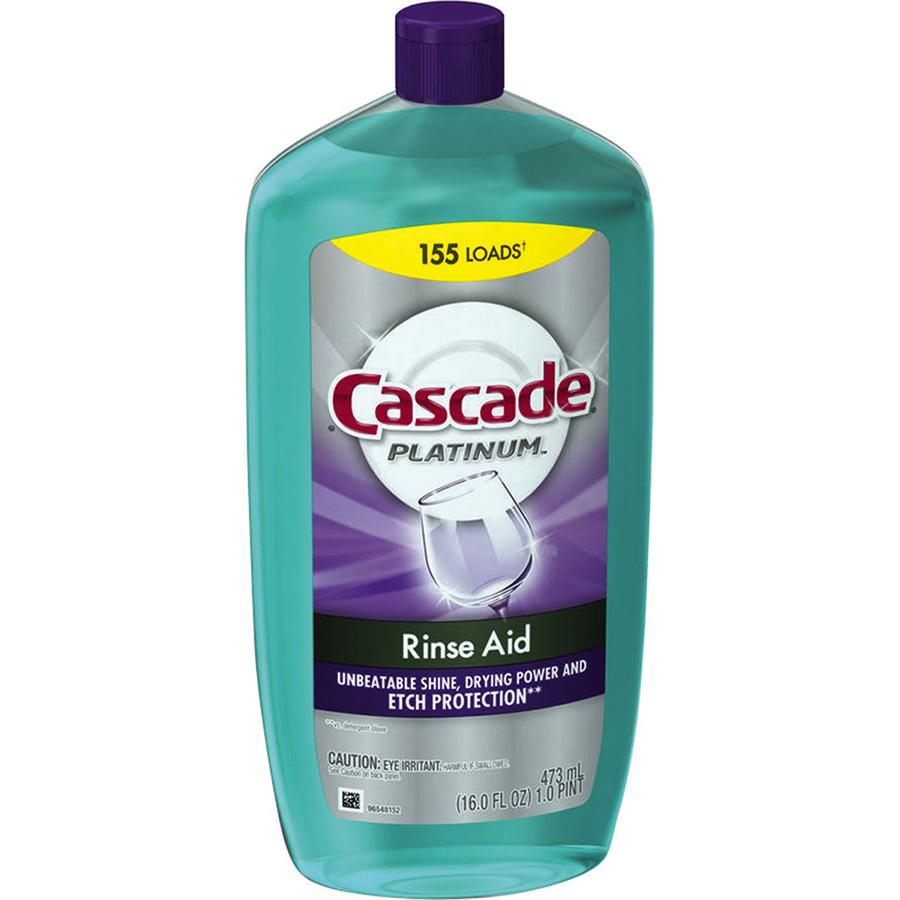 Cascade Platinum Rinse Aid Dish Drying Agent, 16 oz
