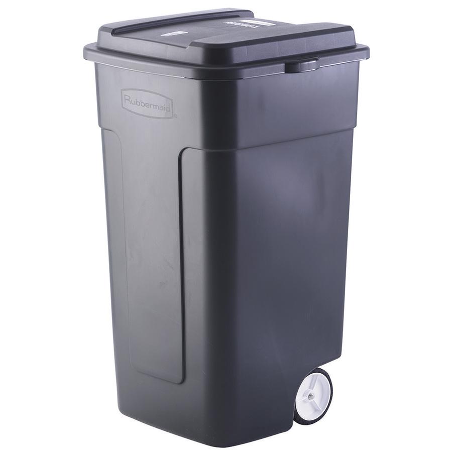 50 Gallon Rubbermaid Trash Can w/Lid and Heavy-Duty Wheels