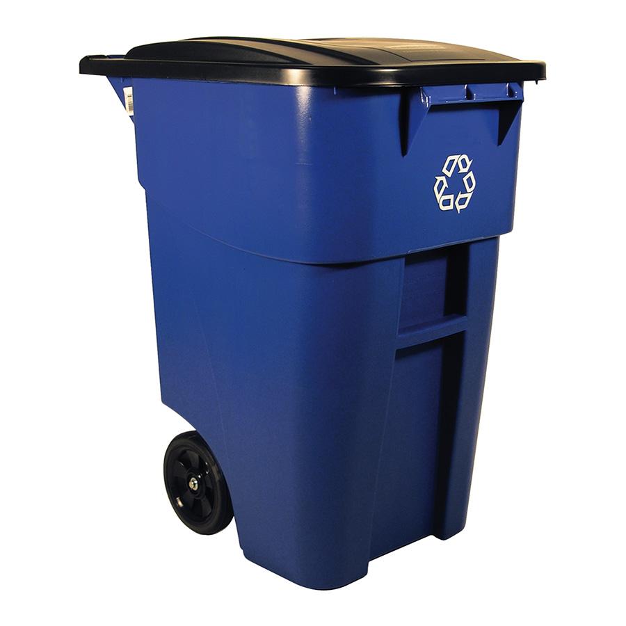 50 Gallon Recycling 2-Wheel Trash Can