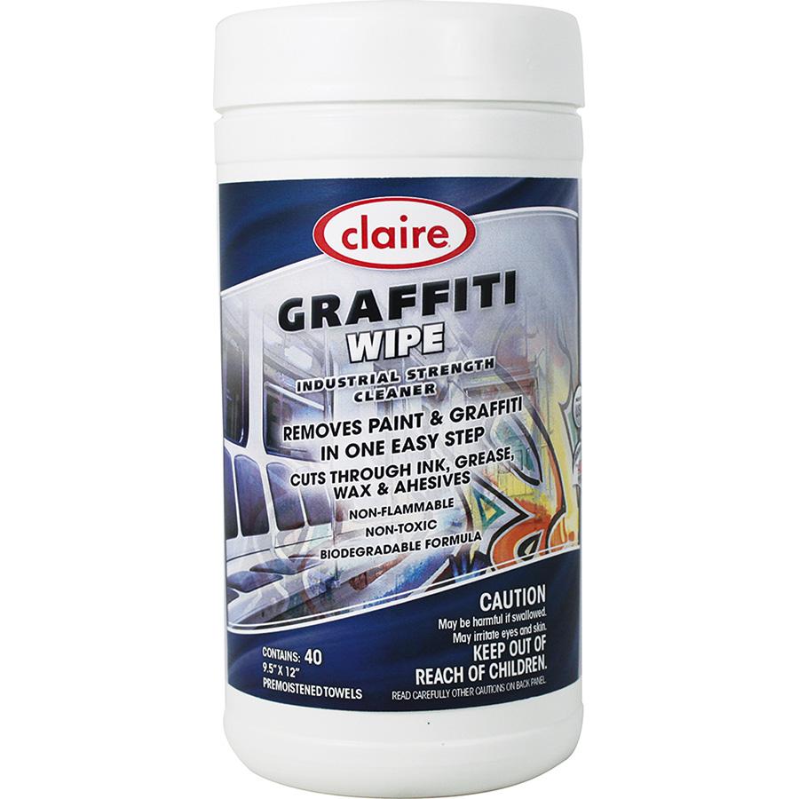 Claire Graffiti Wipes 40 Wipes