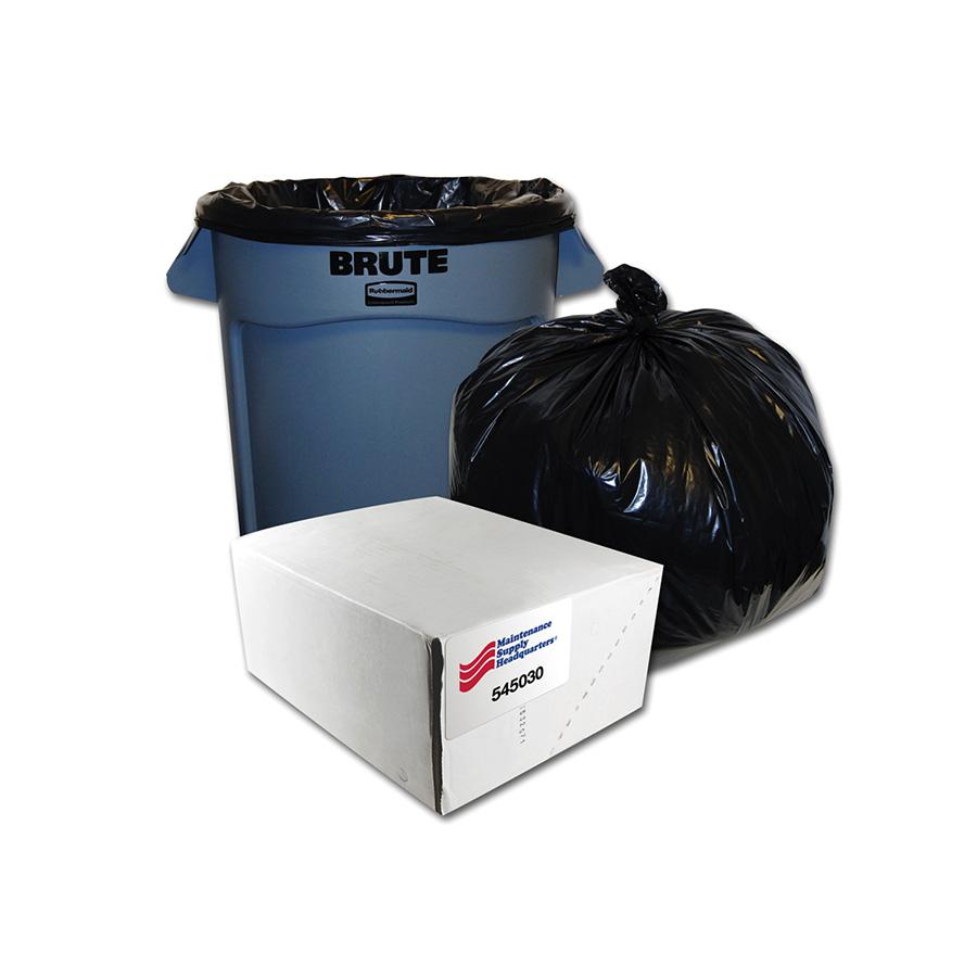 54-58 Gallon Extra Heavy-Duty Low Density Trash Bag Box of 50