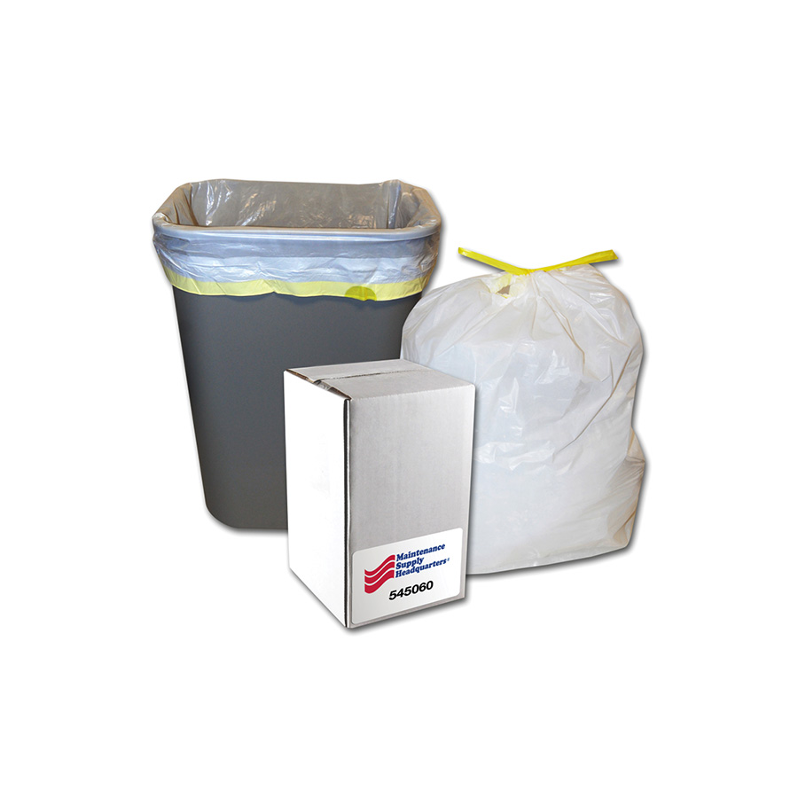 13 Gallon Tape Tie Low Density Trash Bag Case of 60