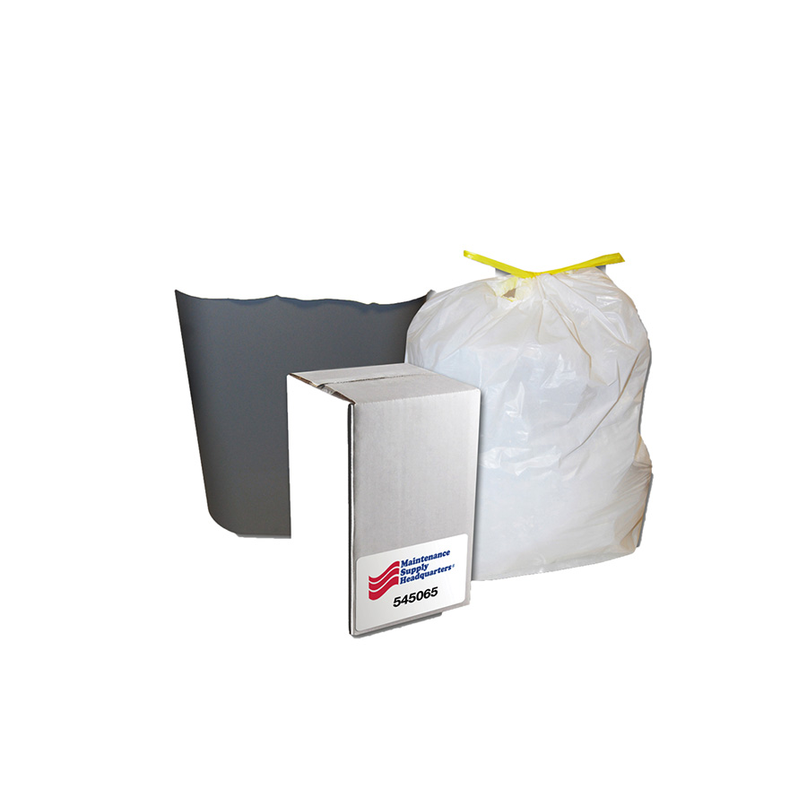 30 Gallon Tape Tie Low Density Trash Bag Case of 42