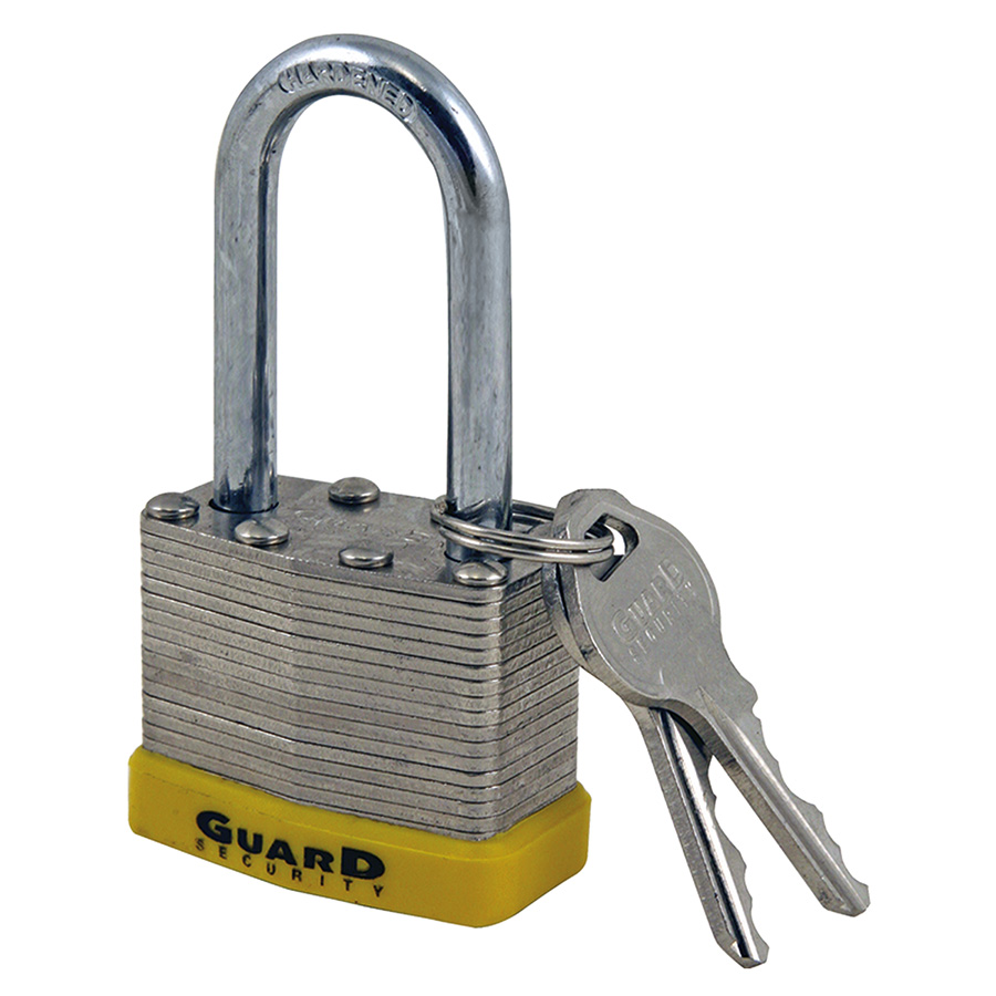 "1-1/2"" Long Shackle Laminated Padlock Keyed Alike"