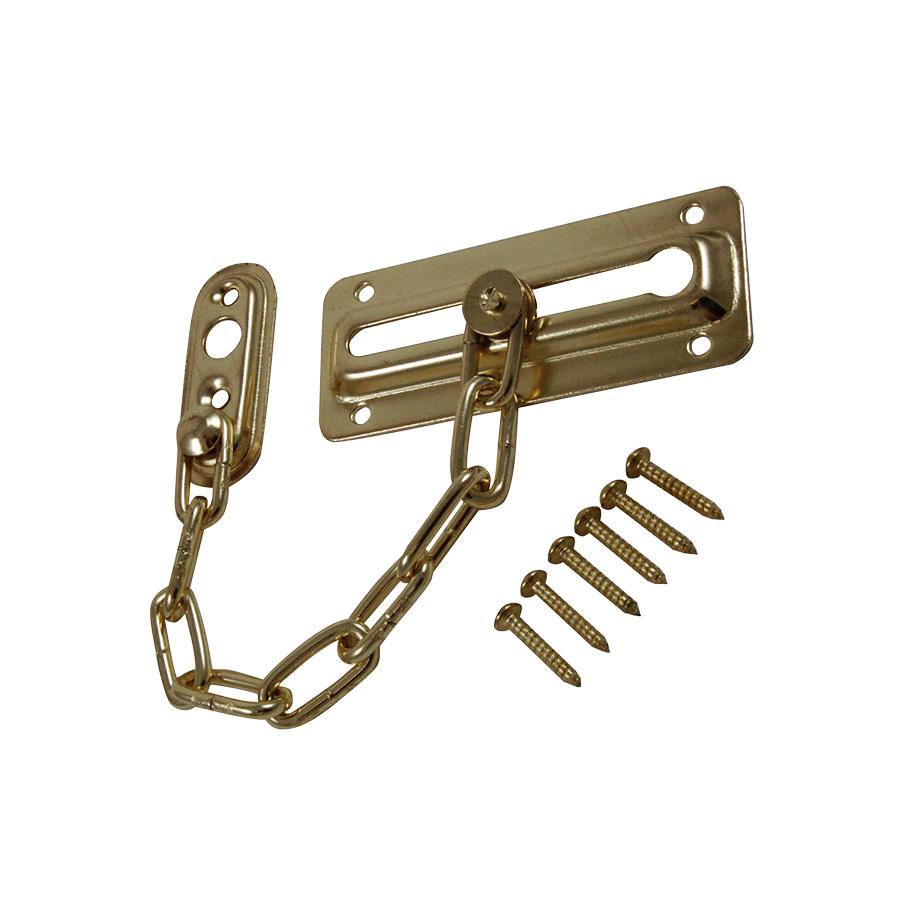 Chain Door Lock Polished Brass