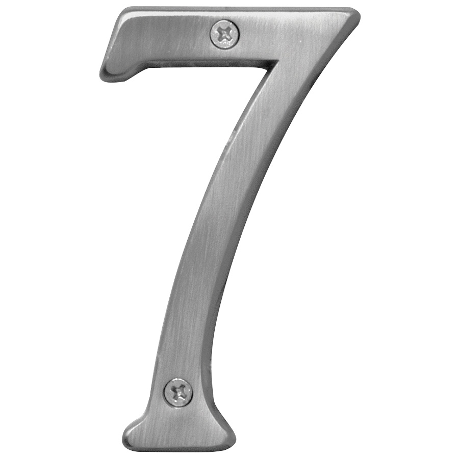"4"" Number Satin Nickel ""7"""