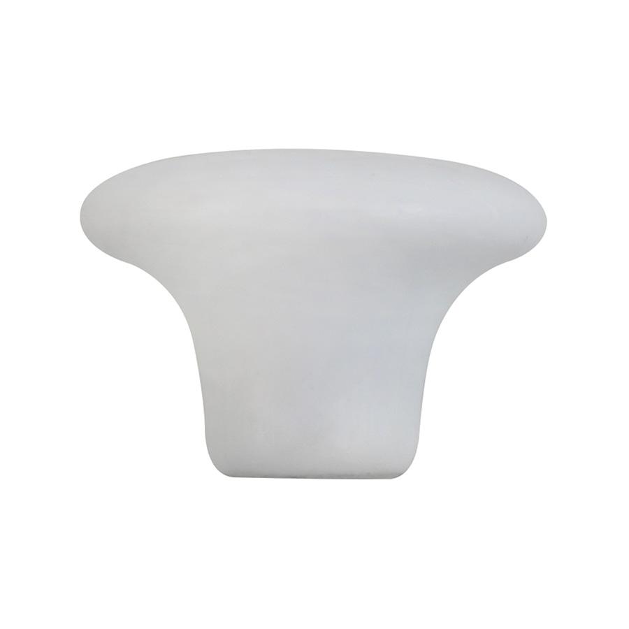 "Cabinet Knob White Porcelain 1-1/2"""