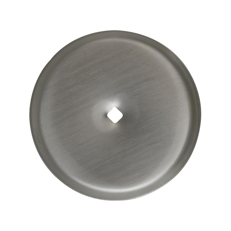 "Cabinet/Bifold Knob Backplate Satin Nickel 2-3/4"""
