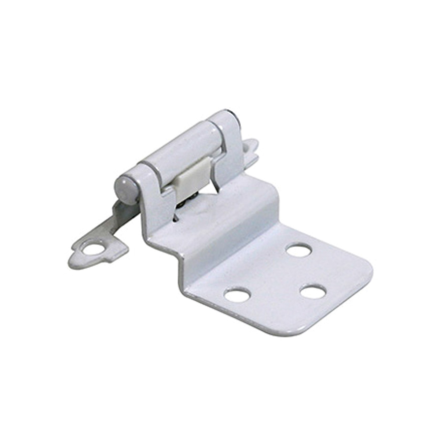 "3/8"" Inset Self-Closing Hinges White"