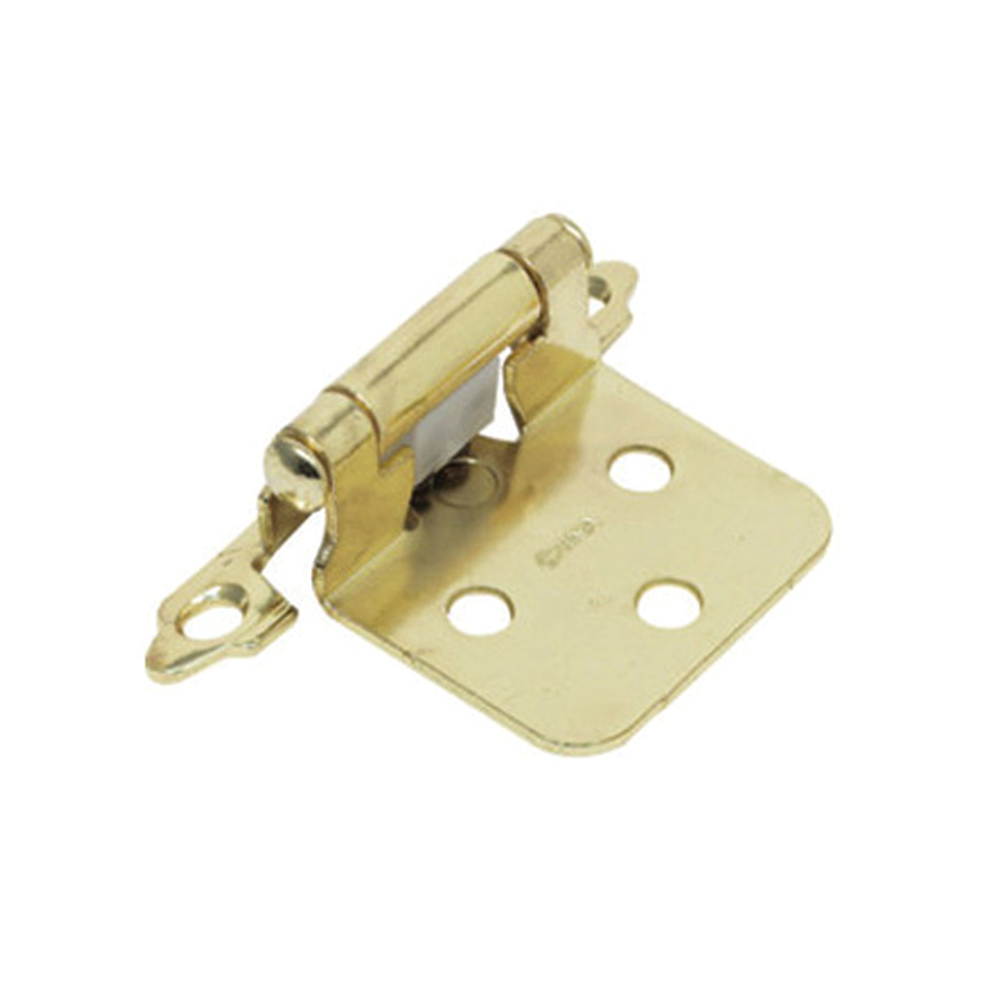 "1-1/2"" Flush Mount Self-Closing Hinges Polished Brass"