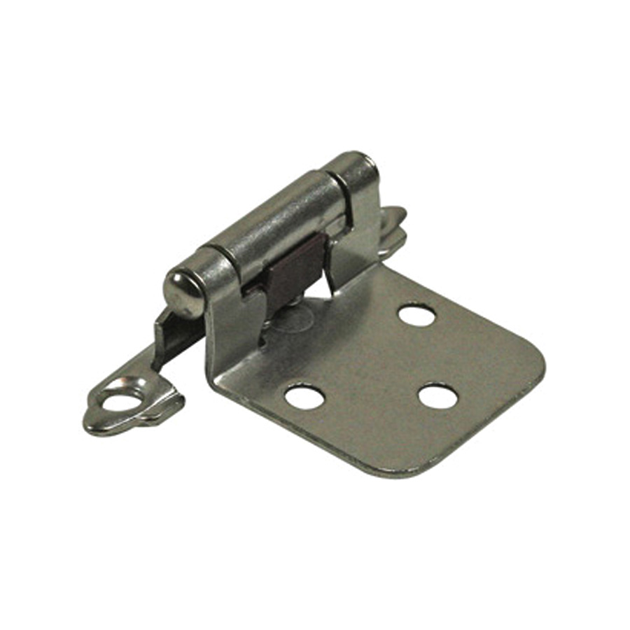 "1-1/2"" Flush Mount Self-Closing Hinges Satin Nickel"