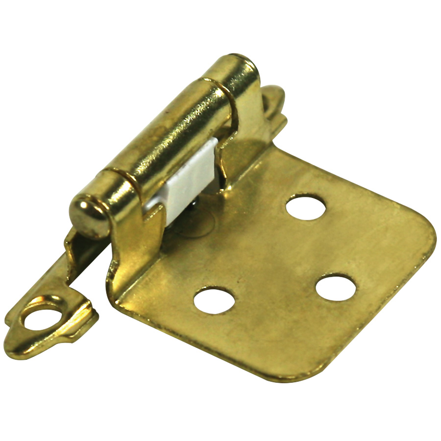 "1-5/8"" Flush Mount Self-Closing Hinges Polished Brass"