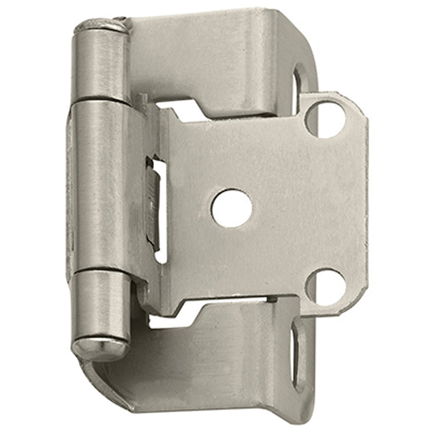 "1-1/4"" Flush Overlay Self-Closing Hinges Satin Nickel"