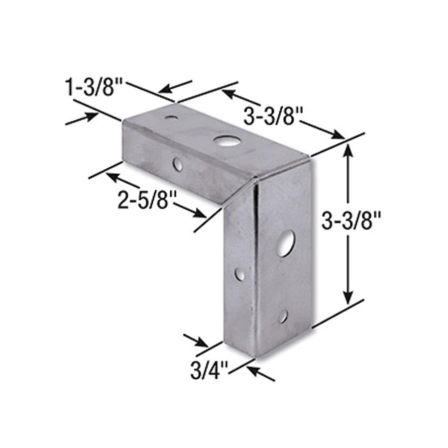"""Bifold Door Corner Repair Bracket 1-3/8"""" Door"""