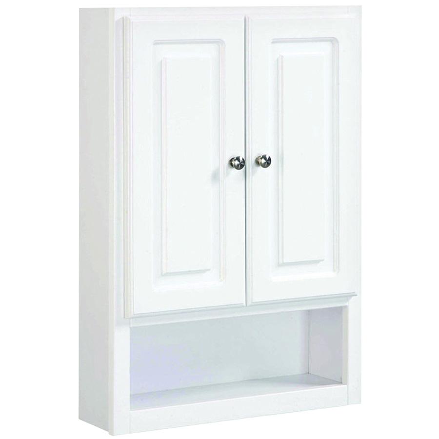 "2-Door Wall Bathroom Cabinet 21""W x 30""H White"