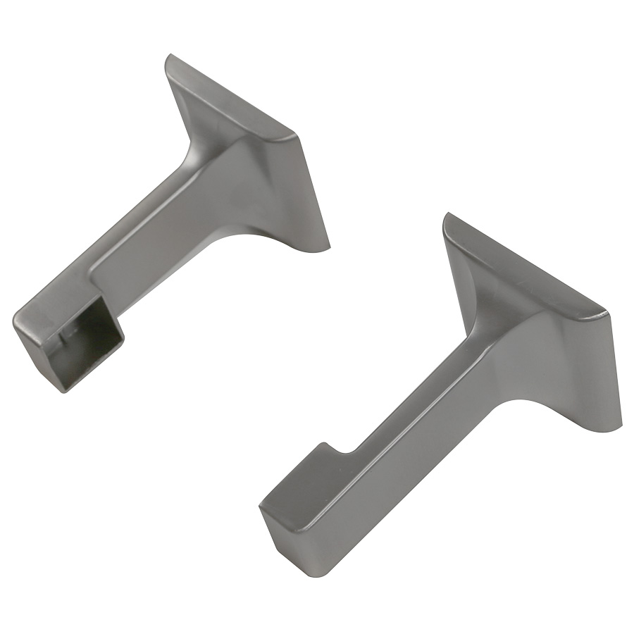 "3/4"" Wide Profile Towel Bar Ends Brushed Nickel"