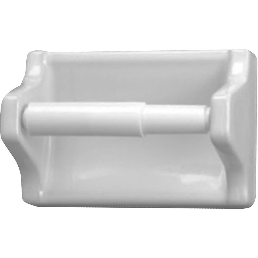 Ceramic Toilet Paper Holder White