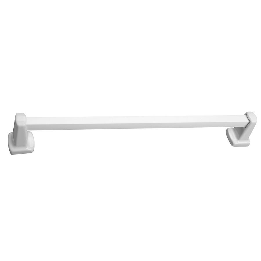 "Ceramic Clip-On 24"" Towel Bar Set White"