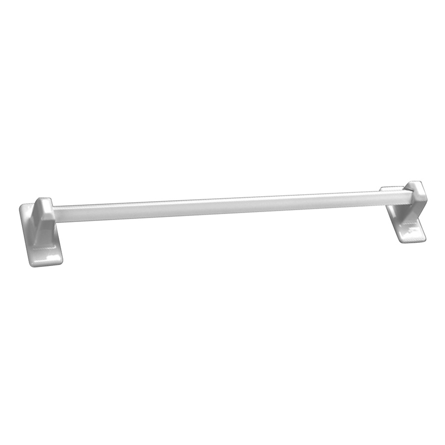 """Ceramic Grout-In 24"""" Towel Bar Set White"""
