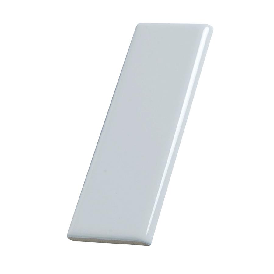 "Ceramic Surface Bullnose Trim Tile White 2"" x 6"""