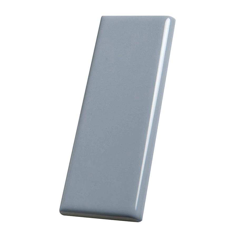 "Ceramic Surface Bullnose Trim Tile Smoke 2"" x 6"""