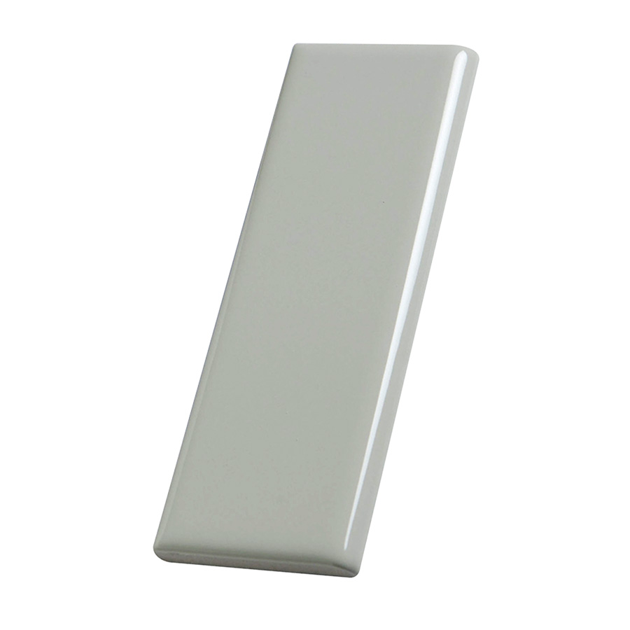 "Ceramic Surface Bullnose Trim Tile Canvas 2"" x 6"""
