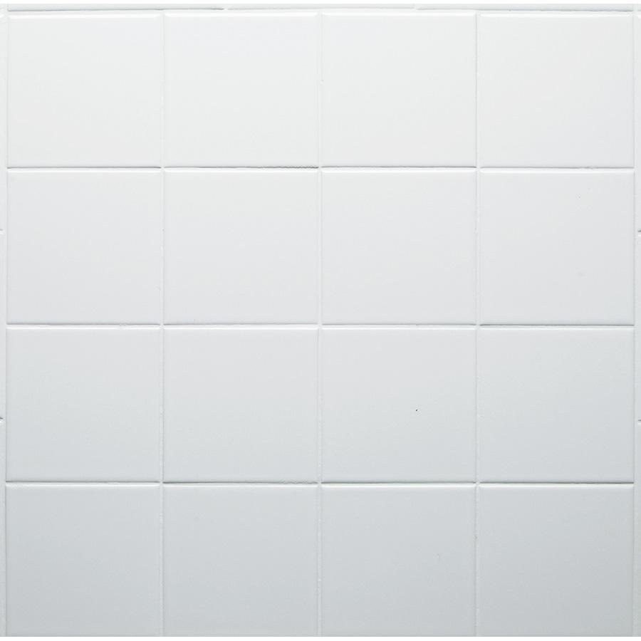 "Ceramic Square Tile White 4-1/4"" x 4-1/4"""