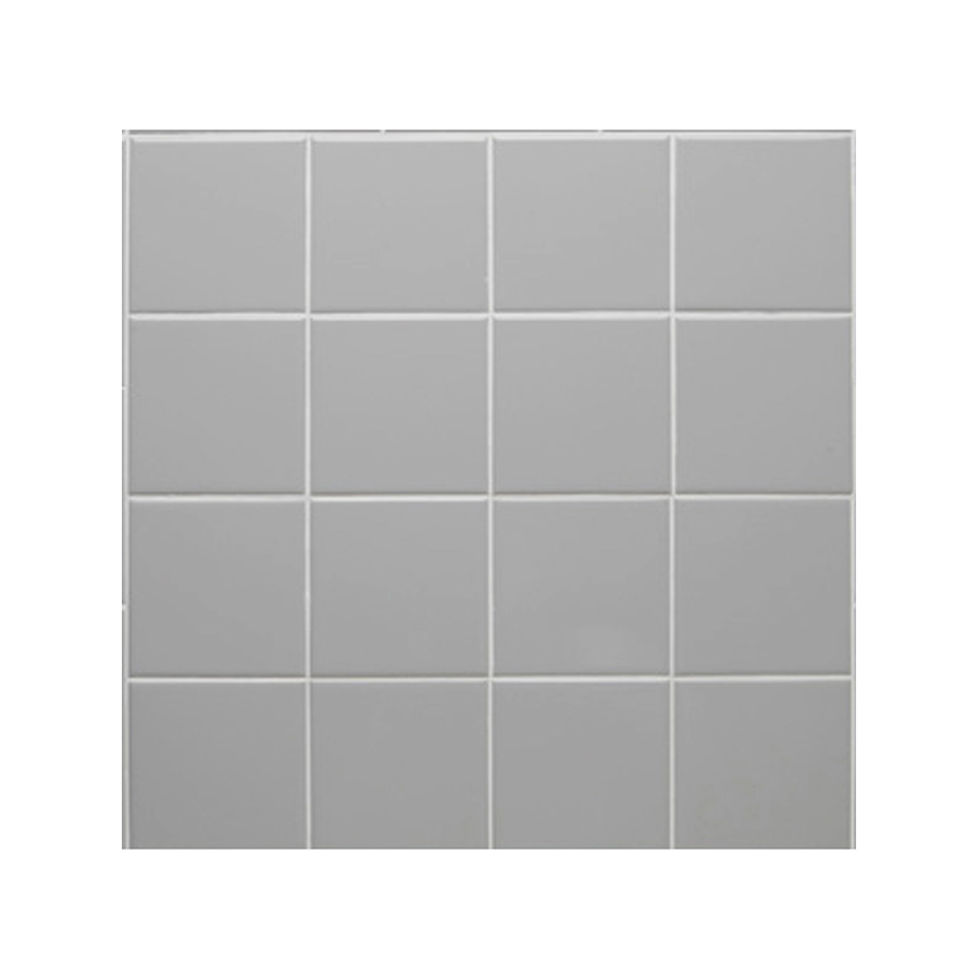 "Ceramic Square Tile Smoke 4-1/4"" x 4-1/4"""