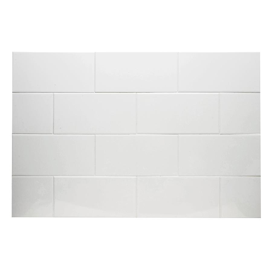 "Ceramic Subway Tile White 3"" x 6"" Subway White"