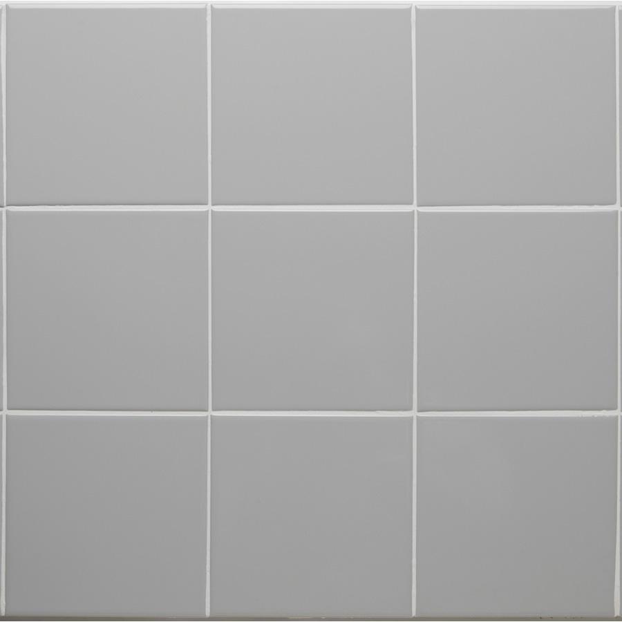 "Ceramic Square Tile Smoke 6"" x 6"" Smoke"