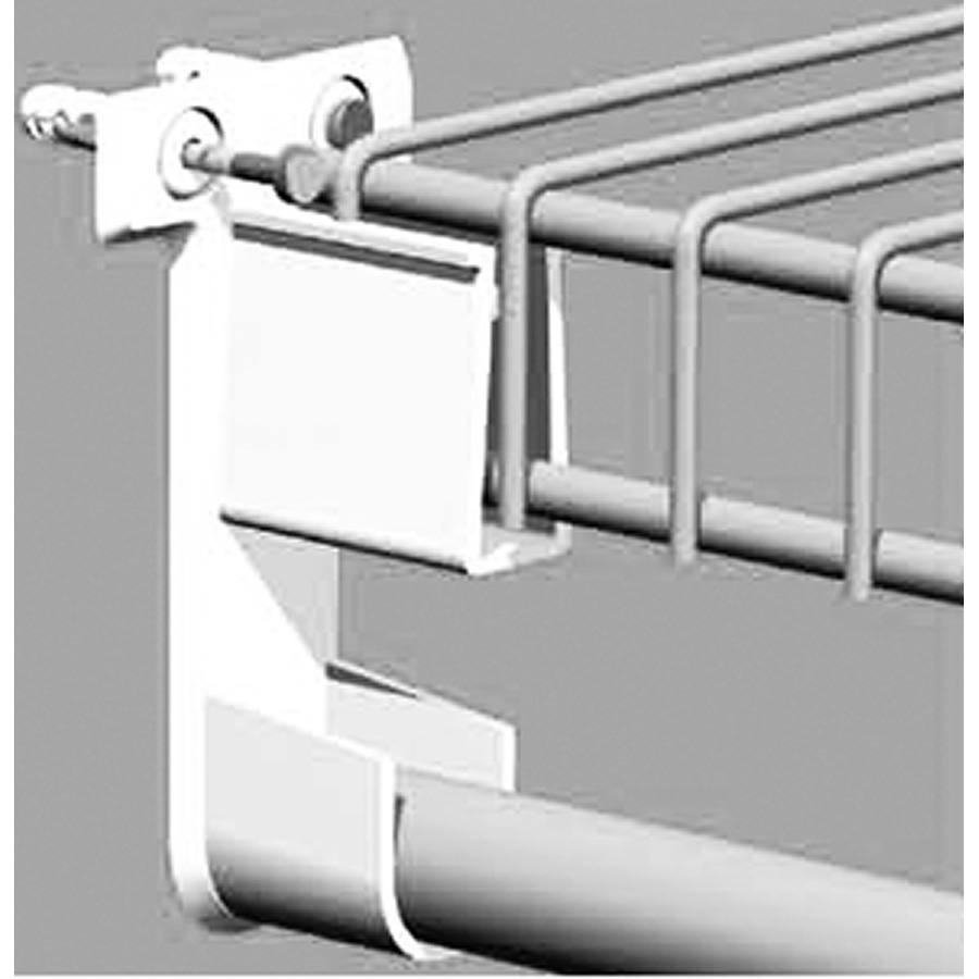 Closetmaid End Bracket with Rod Holder Pre-Loaded
