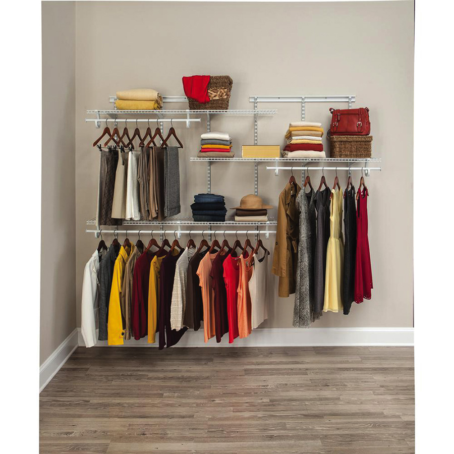 Closetmaid 5 Ft to 8 Ft Shelf Track Shelving Kit 2075